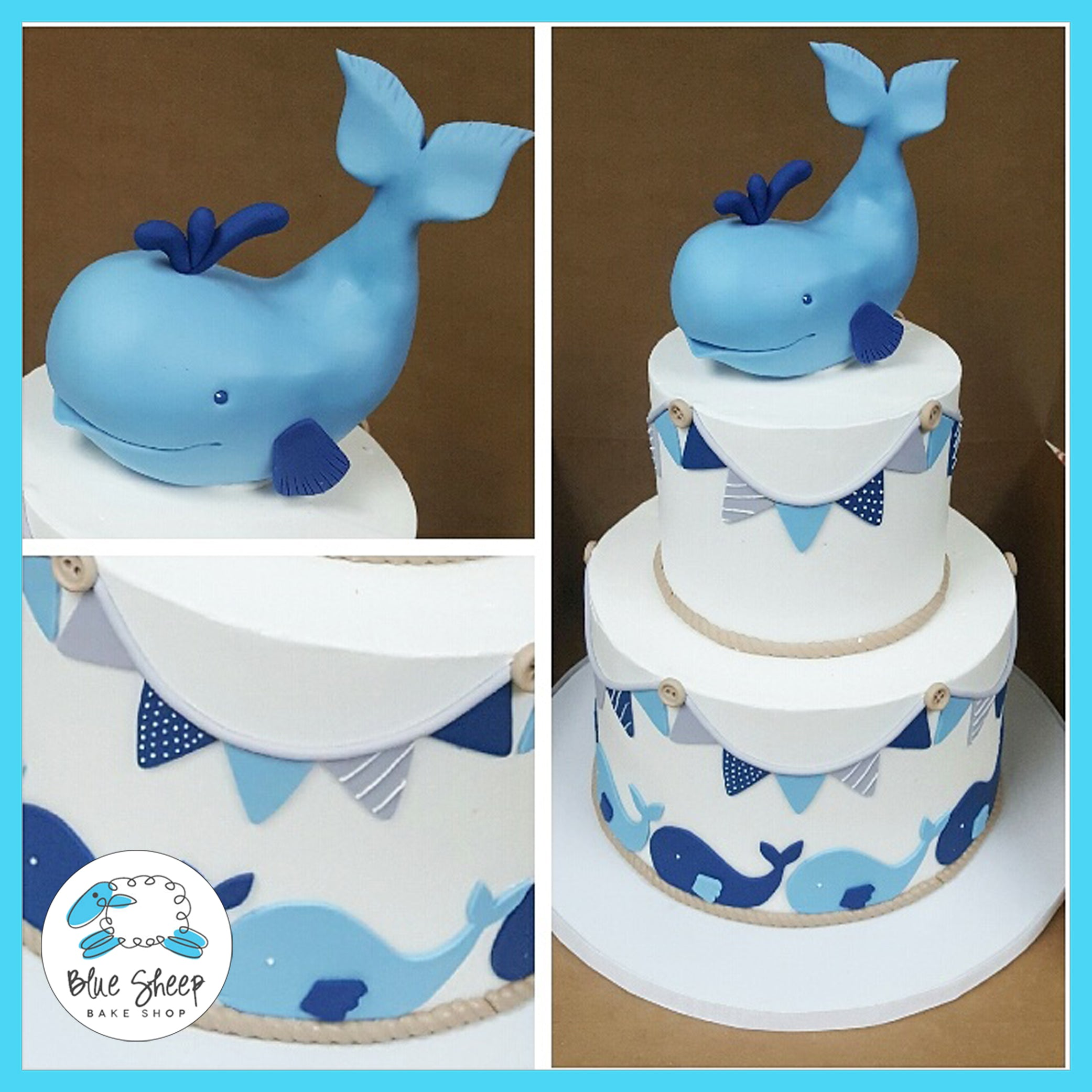 Whale Baby Shower Cake Nj Blue Sheep Bake Shop