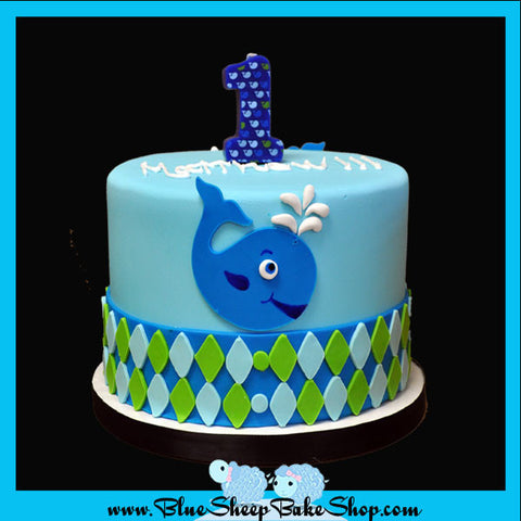 Custom Whale Friends Cupcake Tower Cake Topper 1st Birthday Cake NJ