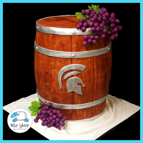wine barrel birthday cake immaculata nj