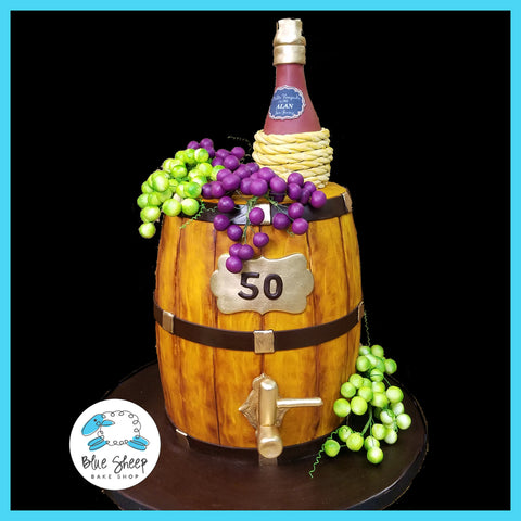 wine barrel cake nj