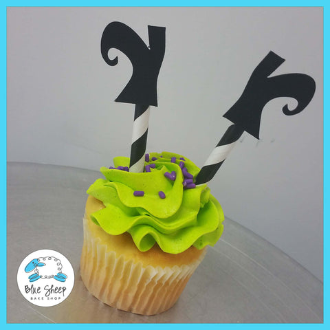 witch feet halloween cupcakes nj