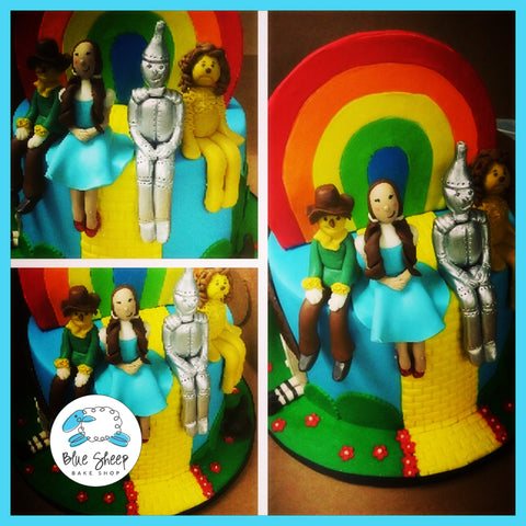wizard of oz fondant birthday cake