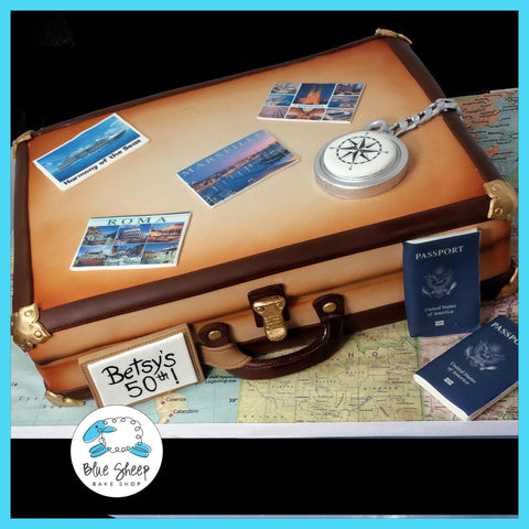suitcase cake nj world traveler cake