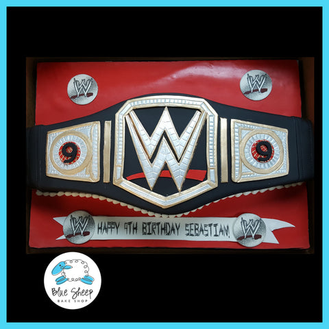 wwe wrestling belt cake nj