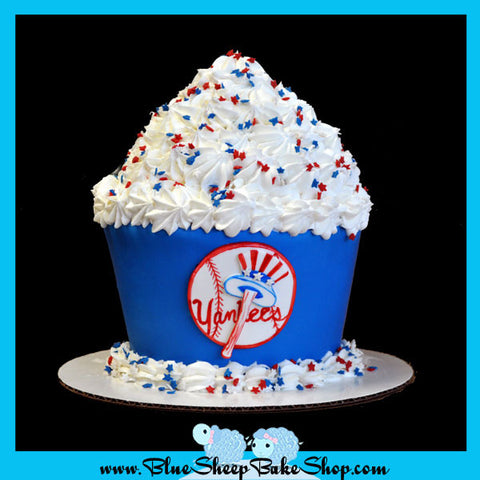 yankees giant cupcake cake birthday cake