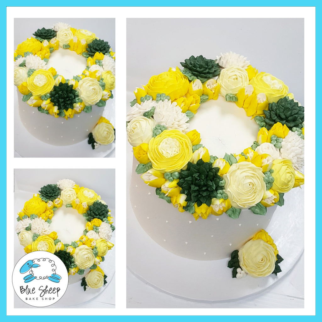 floral birthday buttercream cake nj best cakes