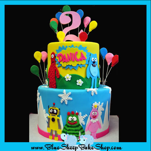 Yo Gabba Gabba 2nd Birthday Cake