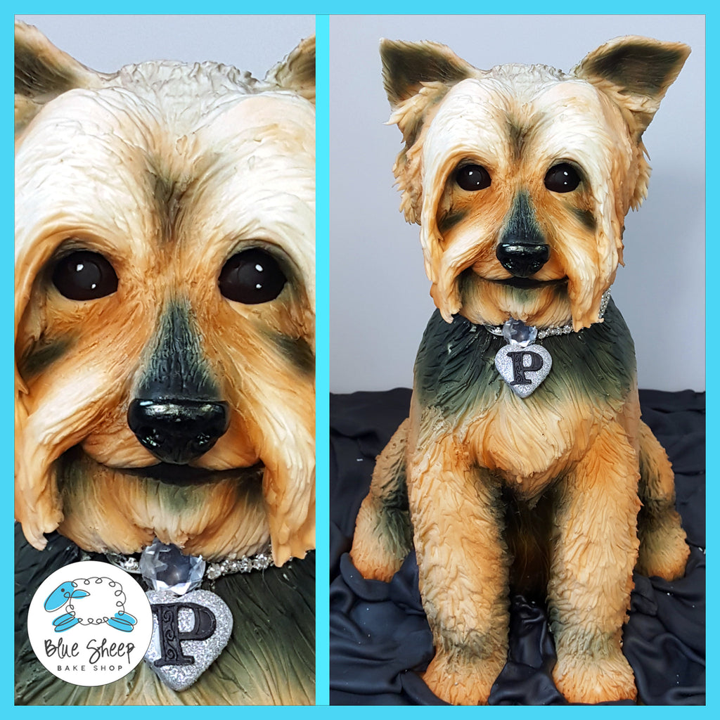sculpted yorkshire terrier grooms cake nj