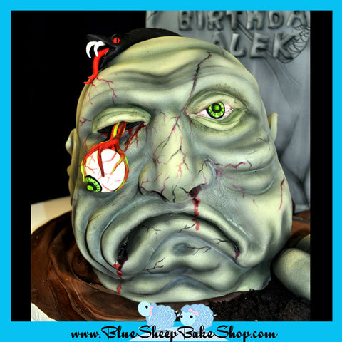 Zombie Birthday Cake Blue Sheep Bake Shop