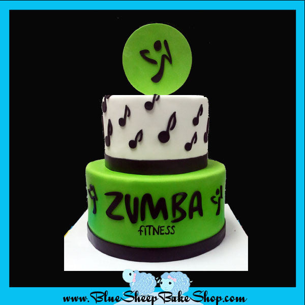 Custom Cake Nj Zumba Specialty Cake Blue Sheep Bake Shop Bakery