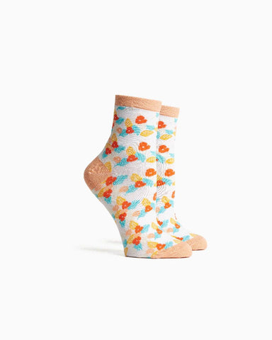 tutti frutti sock - bright white