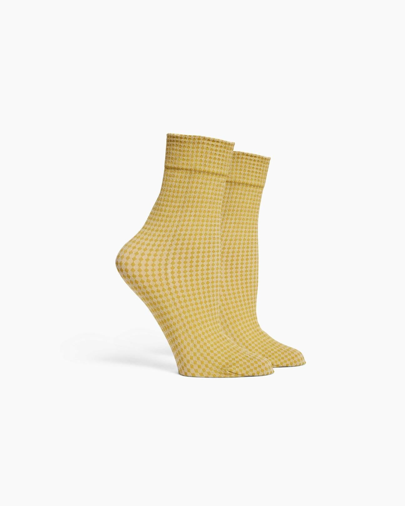 quilted sock - golden verde