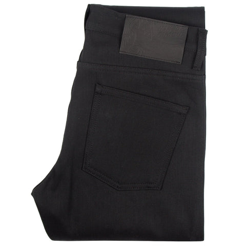weird guy - solid black selvedge