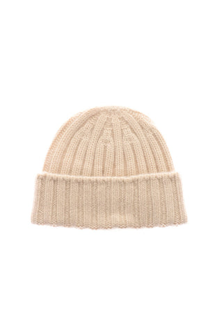cashmere 2x2 ribbed beanie