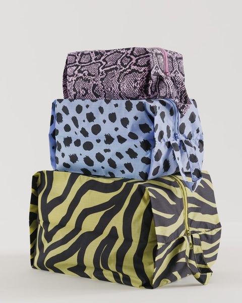 3D zip set - animal print