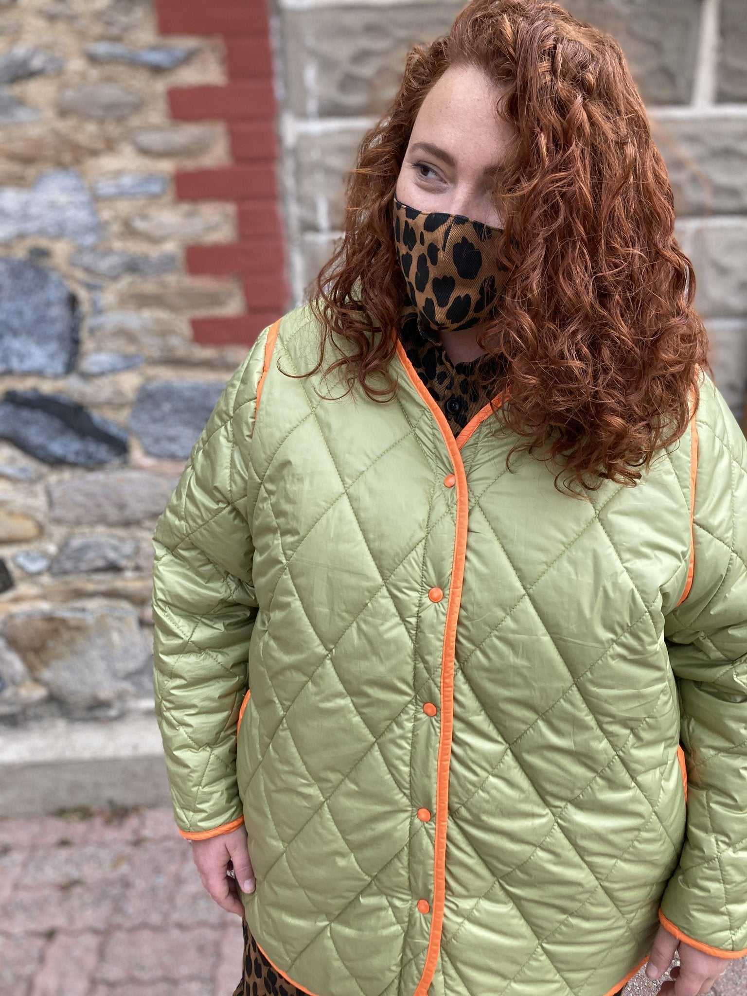 fogo island quilted jacket - army