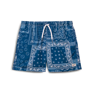 blue bandana swim trunk