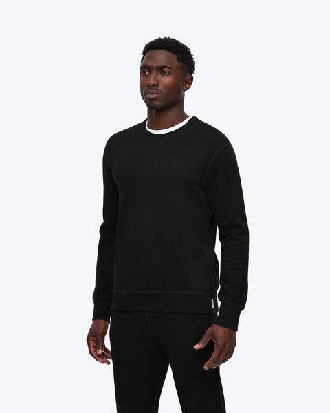 knit Terry long sleeve crew neck