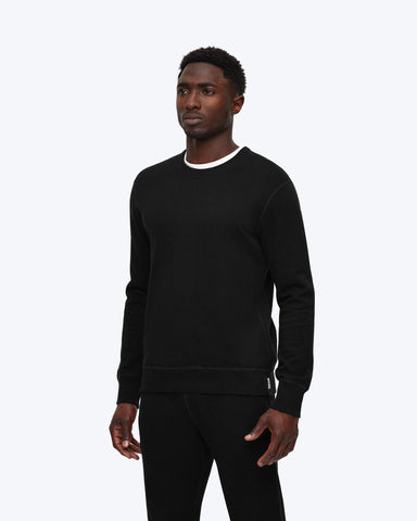 midweight terry crew neck