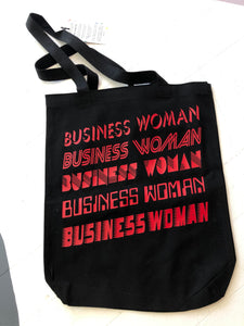 business woman tote - black