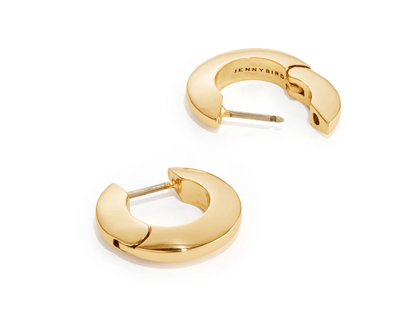 toni hinged hoops small - gold