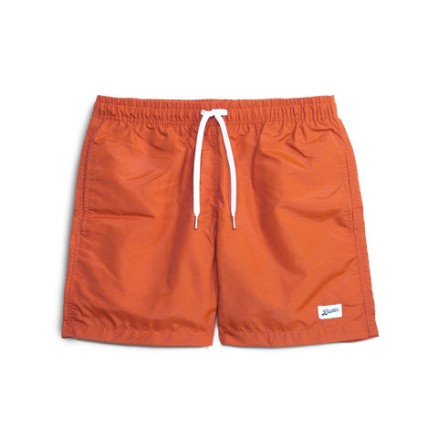 solid orange swim trunk