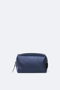 wash bag small - shiny blue