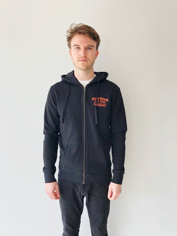 backwards zip hoodie