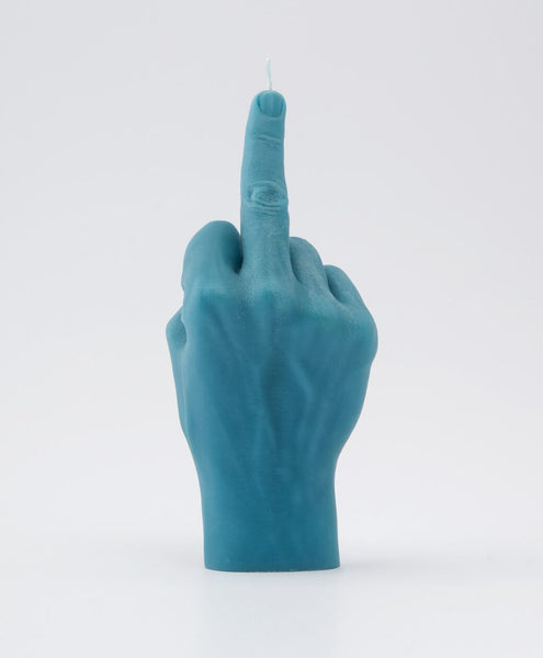 candle hand F*CK YOU! - blue