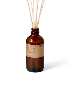 no. 4 teakwood and tobacco reed diffuser