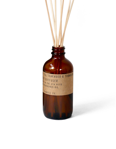 no. 4 teakwood and tobacco reed diffuser o/s