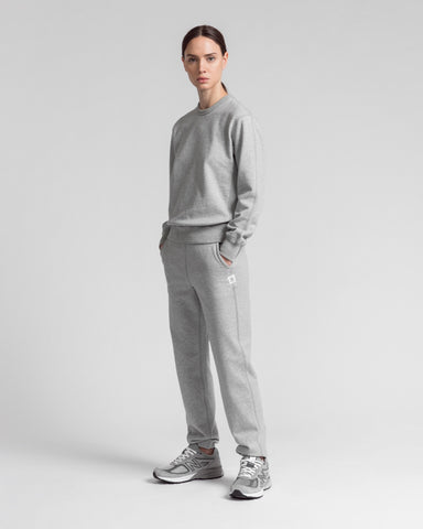 knit mid weight terry cuffed sweatpant