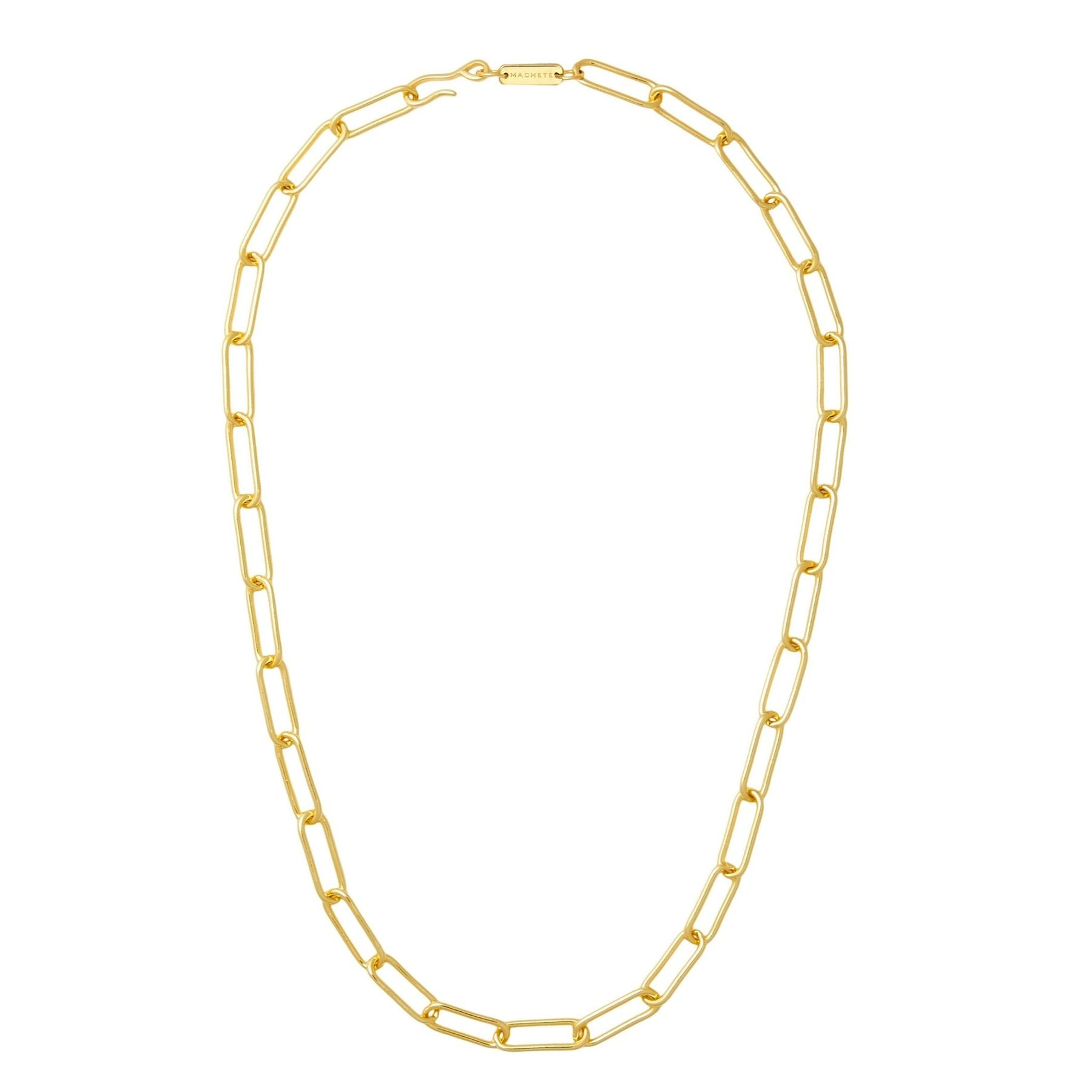 paperclip chain necklace 22""