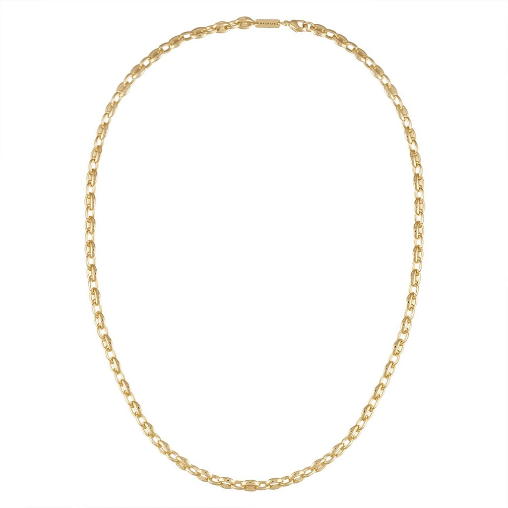 petite coffee bead necklace - gold