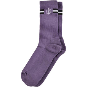 stroke logo sock - purple