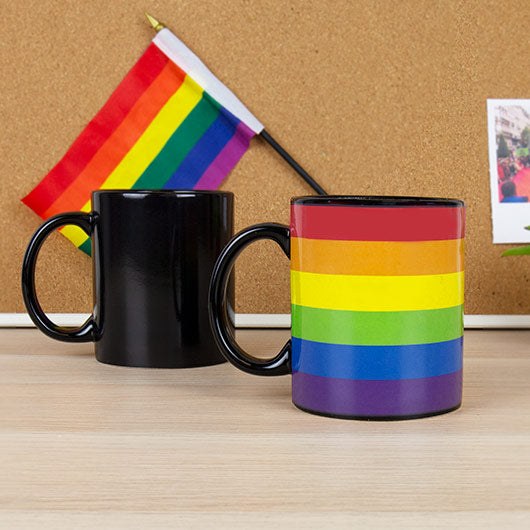 rainbow heat change mug
