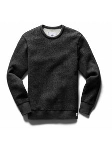 knit tiger fleece long sleeve crewneck