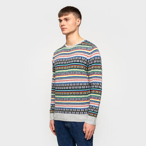 bent knitted sweater