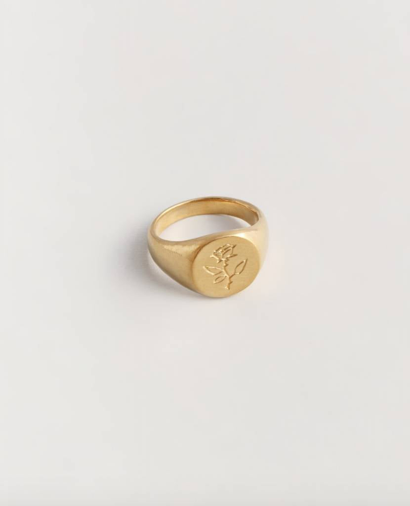 rose coin ring
