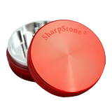SharpStone® Hard Top 2 Piece Herb Grinder - Red