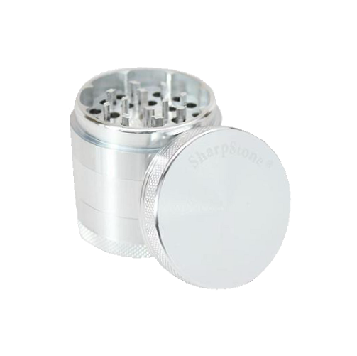 SharpStone® Hard Top 5 Piece Herb Grinder - Silver