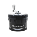 SharpStone® V2 Clear Top 4 Piece Hand Crank Grinder  - Black