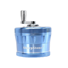 Load image into Gallery viewer, SharpStone® V2 Clear Top 4 Piece Hand Crank Grinder - Blue