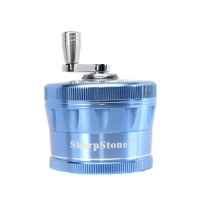 SharpStone® V2 Clear Top 4 Piece Hand Crank Grinder - Blue