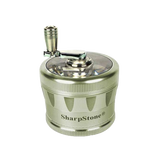 SharpStone® V2 Clear Top 4 Piece Hand Crank Grinder - Green