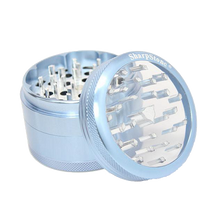 Load image into Gallery viewer, SharpStone® Clear Top 4 Piece Herb Grinder - Blue