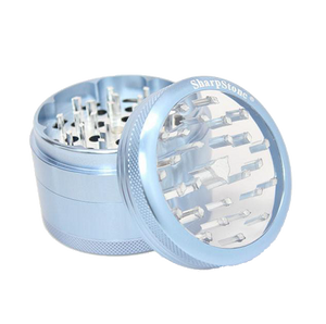 SharpStone® Clear Top 4 Piece Herb Grinder - Blue