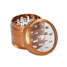 Load image into Gallery viewer, SharpStone® Clear Top 4 Piece Herb Grinder - Brown