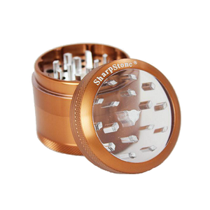 SharpStone® Clear Top 4 Piece Herb Grinder - Brown