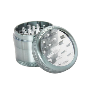 SharpStone® Clear Top 4 Piece Herb Grinder - Grey